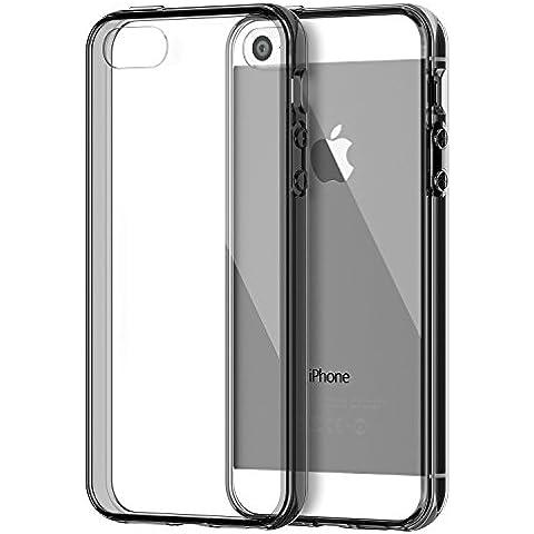 iPhone SE Funda, JETech Apple iPhone 5 5s SE Funda Bumper Funda de Amortiguación y Anti-Arañazos Espalda Case Cover para Apple iPhone 5 5S SE (Gris) - 0429