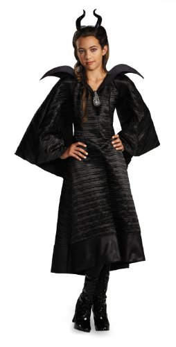 Disguise Disney Maleficent Movie Christening Black Gown Girls Deluxe Costume, Medium/7-8