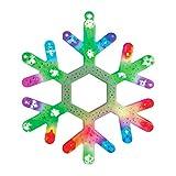 The Christmas Workshop LED-Fensterleuchte, mehrfarbig Schneeflocke Mehrfarbig