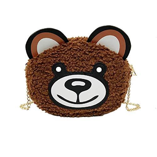 Barlingrock Frauen Umhängetasche Cartoon Plüsch Bärentasche Wild Broadband Teddybär Umhängetasche, Die Schöne Quilten Umhängetasche, Damen Handtaschen, Mode ()