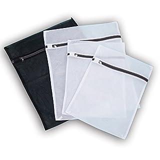 Alohha Delicates Wäsche waschen Taschen mit Rust Proof Flow-Zipper für Wäsche, BH, Strumpf, Unterwäsche Set von 4