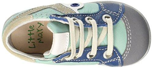 Little Mary Venitien, Chaussures Premiers pas bébé garçon Bleu (Nappa Laguna)