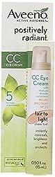 3 PK, Aveeno Positively Radiant CC Eye Cream SPF25, 0. 5 oz(15ml)