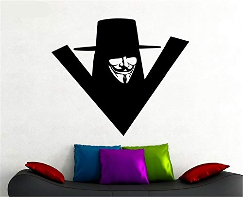 (alicefen V Wandaufkleber für Kinderzimmer Superheld Thema Vinyl Wandtattoo Poster Indoor Home Decoration Klebstoff Wandbild DIY 66 * 57 cm)