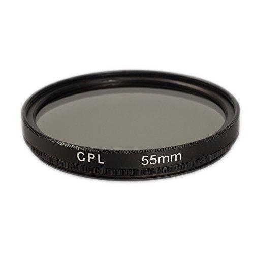 Ares Foto® Polfilter 55mm für Nikon AF-P DX NIKKOR 18–55 mm 1:3,5–5,6 G VR