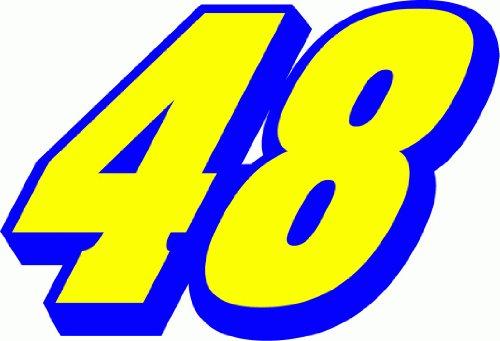 48-jimmie-johnson-nascar-racing-bumper-sticker-12-x-10-cm