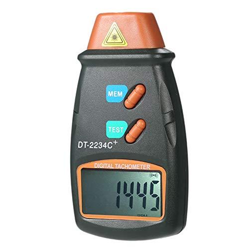 WOVELOT Digital Contagiri con Contagiri Senza Contatto 2.5 Rpm-99999 Rpm Contamiglia con Display LCD Dt2234C Tester Velocità