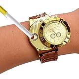 Neborn USB Lade Leichter Uhr Flammenlose Winddicht Zigarette Feuerzeuge Wiederaufladbare Elektronische Sport Männer Uhren