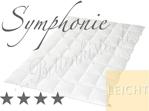Hanskruchen Symphonie - Leicht - leichte Sommer Daunendecke, 200x200 cm, Kassettendecke