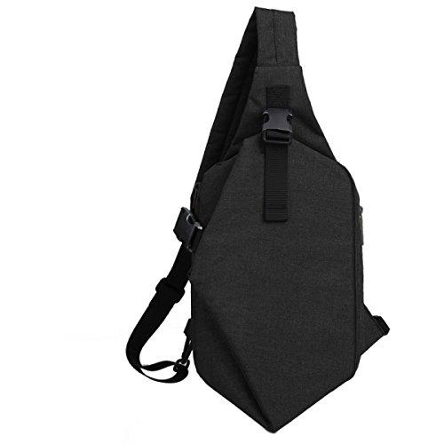 Brusttasche Herrenmode Brusttasche Schultertasche Lässig Umhängetasche Student Sport Brusttasche Männer Kleine Tasche Black