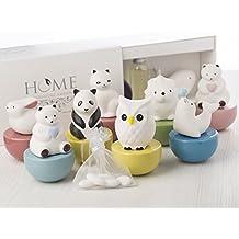 Set 12 pezzi Bomboniere comunione cresima profumatore Ambiente in ceramica ANIMALETTI compreso fragranza da 50 ml