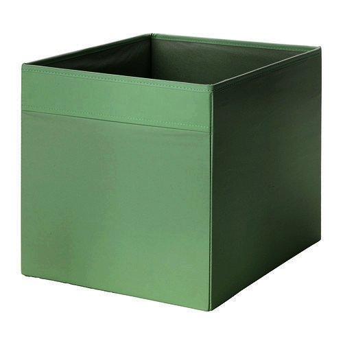 """IKEA Regalfach """"DRÖNA"""" Aufbewahrungsbox Regaleinsatz in 33x38x33 cm (BxTxH) - DUNKELGRÜN - passend für Expedit, Besta, etc."""