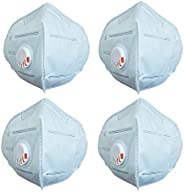 Glammore N95 Non Woven Reusable Washable, Anti Pollution Dust Face Mask With Respirator Valve - Free Size, Pac