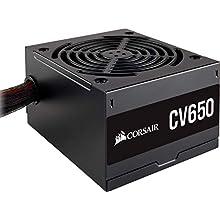 Corsair CV650, CV Series, 80 PLUS Bronze Certified, 650 Watt Non-Modular Power Supply - Black