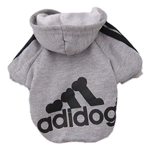 Sunshine D Adidog Haustier Hund Hoodie, Hündchen Overall Pullover, Haustiere Sportswear Jacke Kostüme Welpen T-Shirt für Kleine große Hund