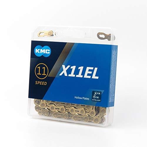 "KMC Fahrradkette X 11 EL, gold, 1/2"" x 11/128"", 13010701"
