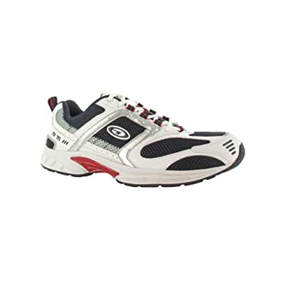 Hi-Tec R111 Mens Trainer / Mens Trainers / Mens Sports (12 UK) (White/Navy/Red)