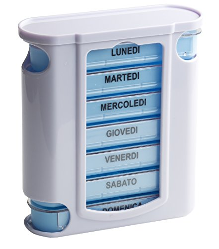 Tower Portapillole portapillole con 4 Linee di pianificazione giornaliera - Italiano