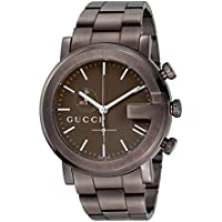 Gucci G Chrono Collection Men's Quartz Watch with Brown Dial Chronograph Display