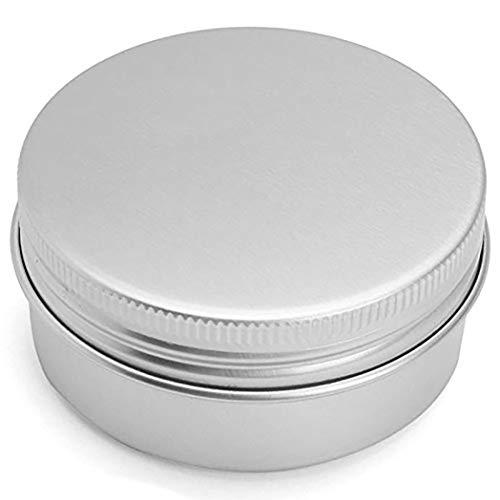 0 g Dose aus leerem Zinn, Dose für Creme, Kosmetik, rund, aus Aluminium, silberfarben, Behälter für Lippenbalsam, Schraubdeckel, 55 x 29 mm ()