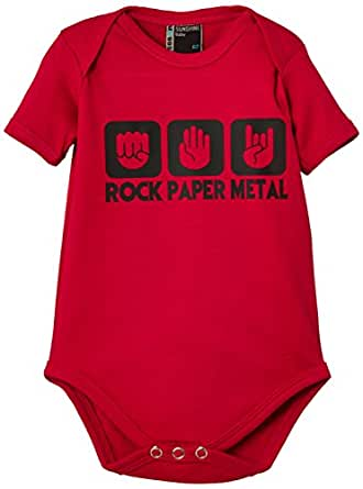 Touchlines Unisex - Baby  Body Stein Papier Rock  Heavy Metal, sorbet, 56, BB405