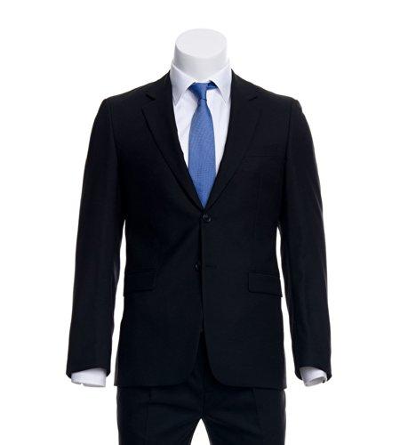 AZZURINO Sakko Easy Comfort in Schwarz, praktische Details, Gr. 56 (Pattentasche Einreiher Anzug)