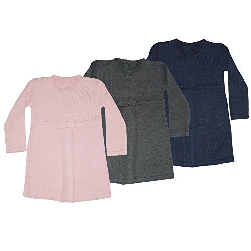 Those Baby Basics 1213 Mädchen Baby Kleid Strickkleid von 6-24 Monate (92, Grau)