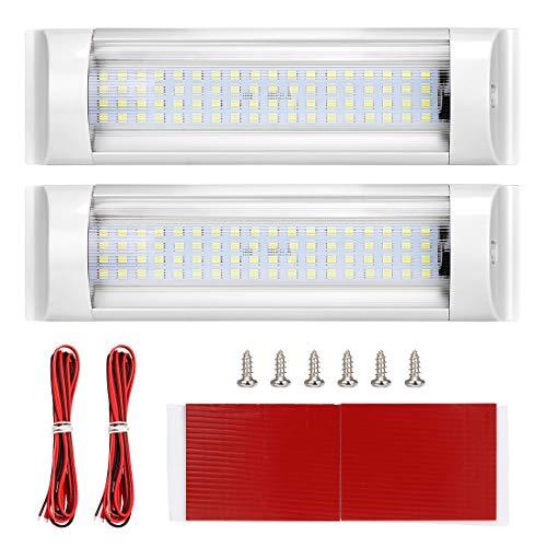 Innenleuchten, SUPAREE LED RV Deckenleuchte Dachbeleuchtung 12V-80V 72LED Innenbeleuchtung für Wohnmobil/Wohnwagen/Wohnmobil/Wohnmobil/Lieferwagen/Boot