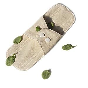 2 Pieces of Menstrual Pads - Cotton Reusable Sanitary Napkins - 18cm