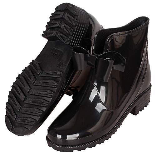 Womens Rain Shoes Anti Slip Wellington Boots Ankle Wellies Ladies Rain Snow Boots Chelsea Shoes
