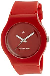 Fastrack Tees Analog Red Dial Unisex Watch - ND9915PP34J