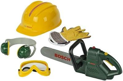 Bosch - Sierra de cadena con accesorios de juguete (Theo Klein 8525)
