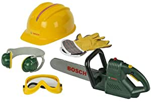 Theo Klein- Bosch 8525 - BOSCH Kettensäge mit Zubehör, Spielzeug