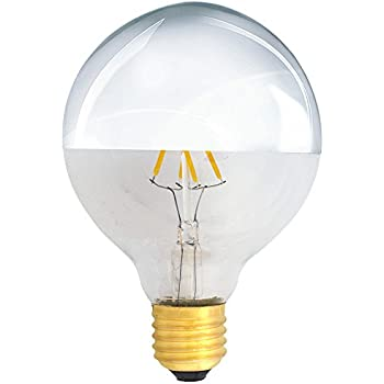 Led filament globe kopfspiegel silber gl hbirne g95 4w 40w e27 faden gl hlampe warmwei 2700k - Kopfspiegellampe led e27 ...