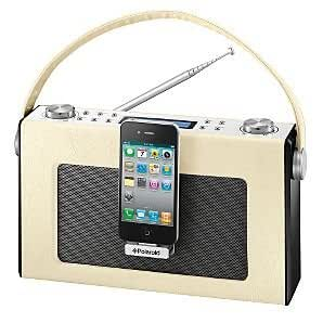 Polaroid Retro FM & digital radio with iPhone / iPod dock and alarm clock DS234I