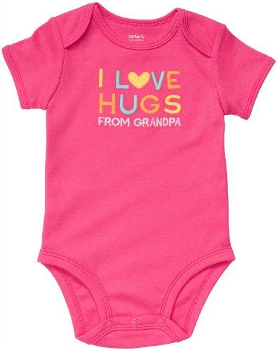Carter's Body für Mädchen Sommer Spieler Unterwäsche girl onesie OPA (18 Monate, pink) (Carters Body Onesies)