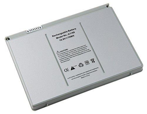 """Batterie d'ordinateur portable pour Apple Macbook Pro 17"""" compatible avec A1189 MA458 MA458J/A MA458G/A MA458/"""