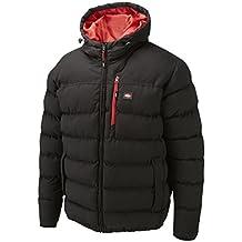 Lee Cooper Workwear Padded - Abrigo de plumas para hombre, color negro, talla XXL