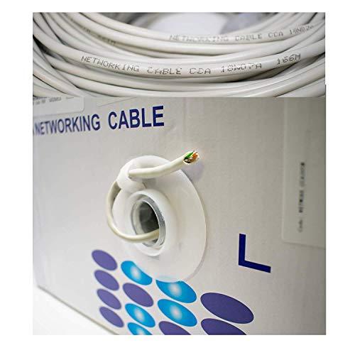 Stranded Utp-kabel (I-CHOOSE LIMITED 305M RJ45 CAT6 UTP AWG23 Festes Kupfernes Ethernet-LAN-Kabel/Ungeschirmtes Verdrilltes Festes Kupfernes Kabel des Paar- / 1000ft Vernetzung Kabelrolle)