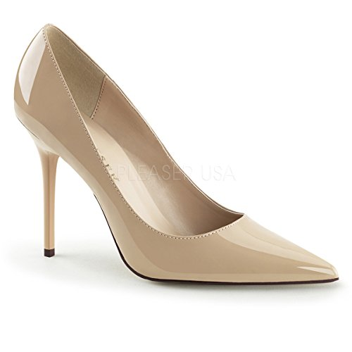 Pleaser CLASSIQUE-20, Damen Pumps Cream Pat