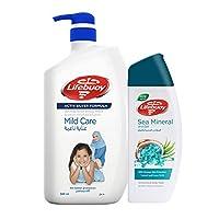 Lifebuoy Anti Bacterial Body Wash Mild Care, 500ml + Lifebuoy Anti Bacterial Body Wash 280ml FREE