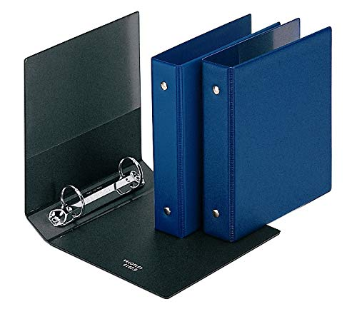 Veloflex 4167000 Karteikartenordner A6, Ringbuch, Ordner, mit Innentasche, PVC, sortiert (blau oder schwarz)