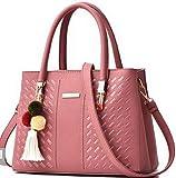 AgooLar Damen Schultertaschen Trage-Stil Pu Umhängetaschen,GMLBA181799,Pink