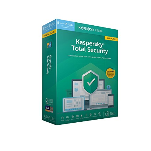 Kaspersky Total Security 2019 Mise à jour (5 Postes / 1 An)