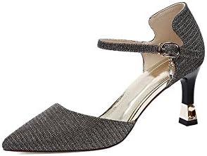 DALL Zapatos de tacón Ly-727 Shiny Dazzling Vamp Zapatos De Mujer Tacones Finos Zapatos De Tacón Alto Sandalias...