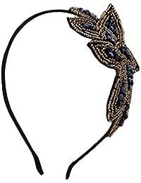BONAMART ® Retro Elegant Kristall Perle Haarband Geflochten Blumen Damen 24869