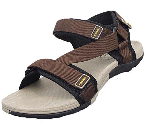 mâle Chaussons – Chaussures Sandales pour femme – Sandales pour homme –-Café