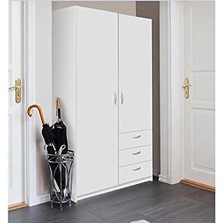Varia Armoire de Chambre Style Contemporain Blanc - l 97 cm
