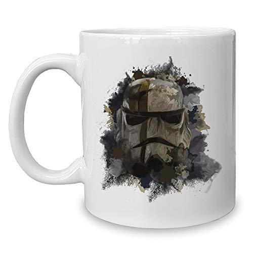 Shirtdepartment - Kaffeebecher - Tasse - Gaming & Film Motive Dark Trooper (Blaster Trooper Clone Star Wars)