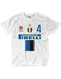 KiarenzaFD Camiseta Camiseta Fútbol Vintage Inter 4 Zanetti Temporada 09 – 10 ° 2, KTS01959
